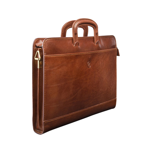 Image 2 of the 'Barolo' Chestnut Veg-Tanned Leather Prestige Folder
