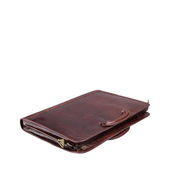 Image 4 of the 'Barolo' Dark Chocolate Veg-Tanned Leather Prestige Folder