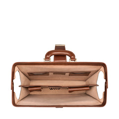 Image 6 of the 'Basilio' Chestnut Veg-Tanned Leather Executive Briefcase