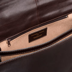 Image 6 of the 'Battista' Brown Veg-Tanned Leather Satchel Briefcase