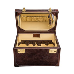 Image 4 of the 'Bellino' Dark Chocolate Veg-Tanned Leather Vanity Case