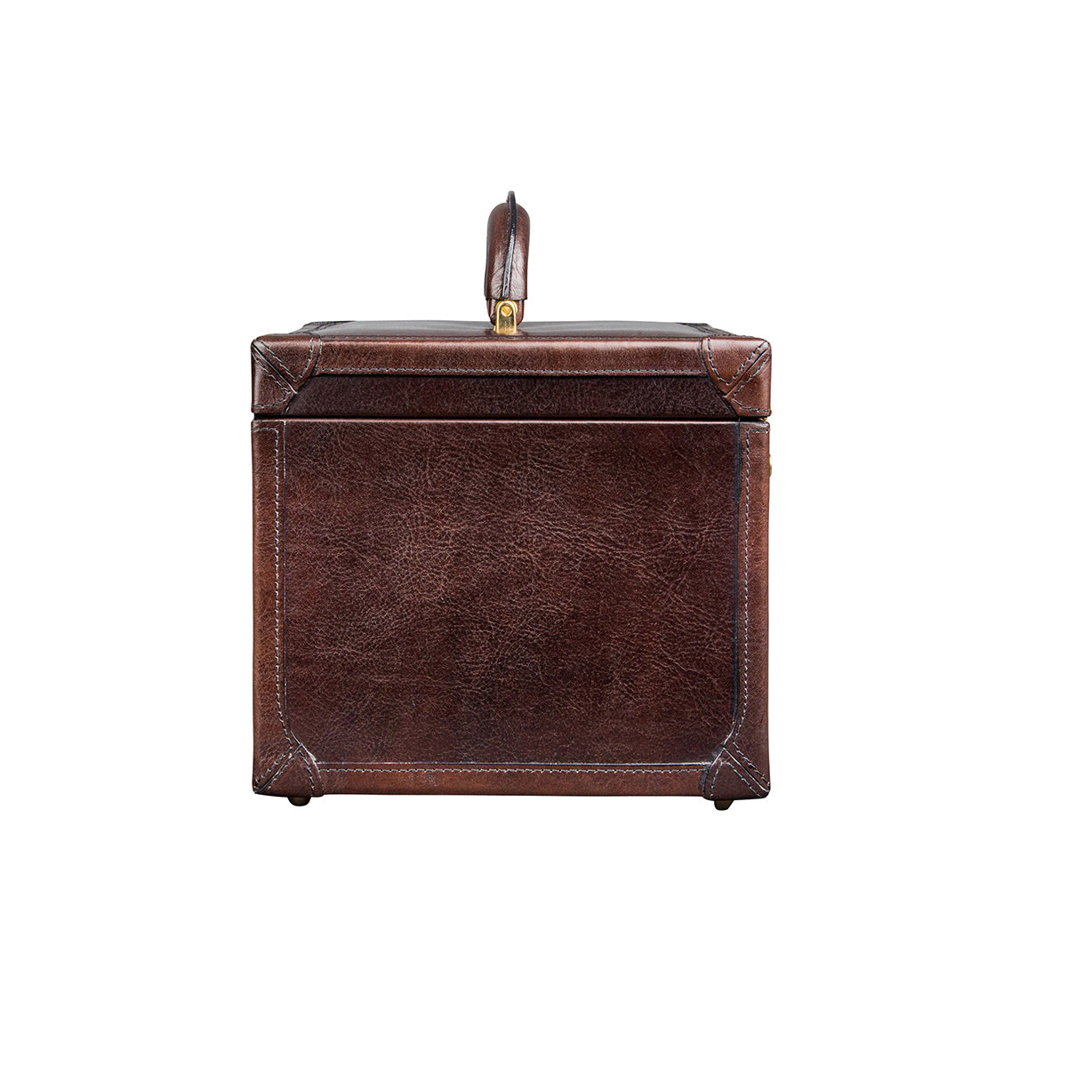 Image 3 of the 'Bellino' Dark Chocolate Veg-Tanned Leather Vanity Case