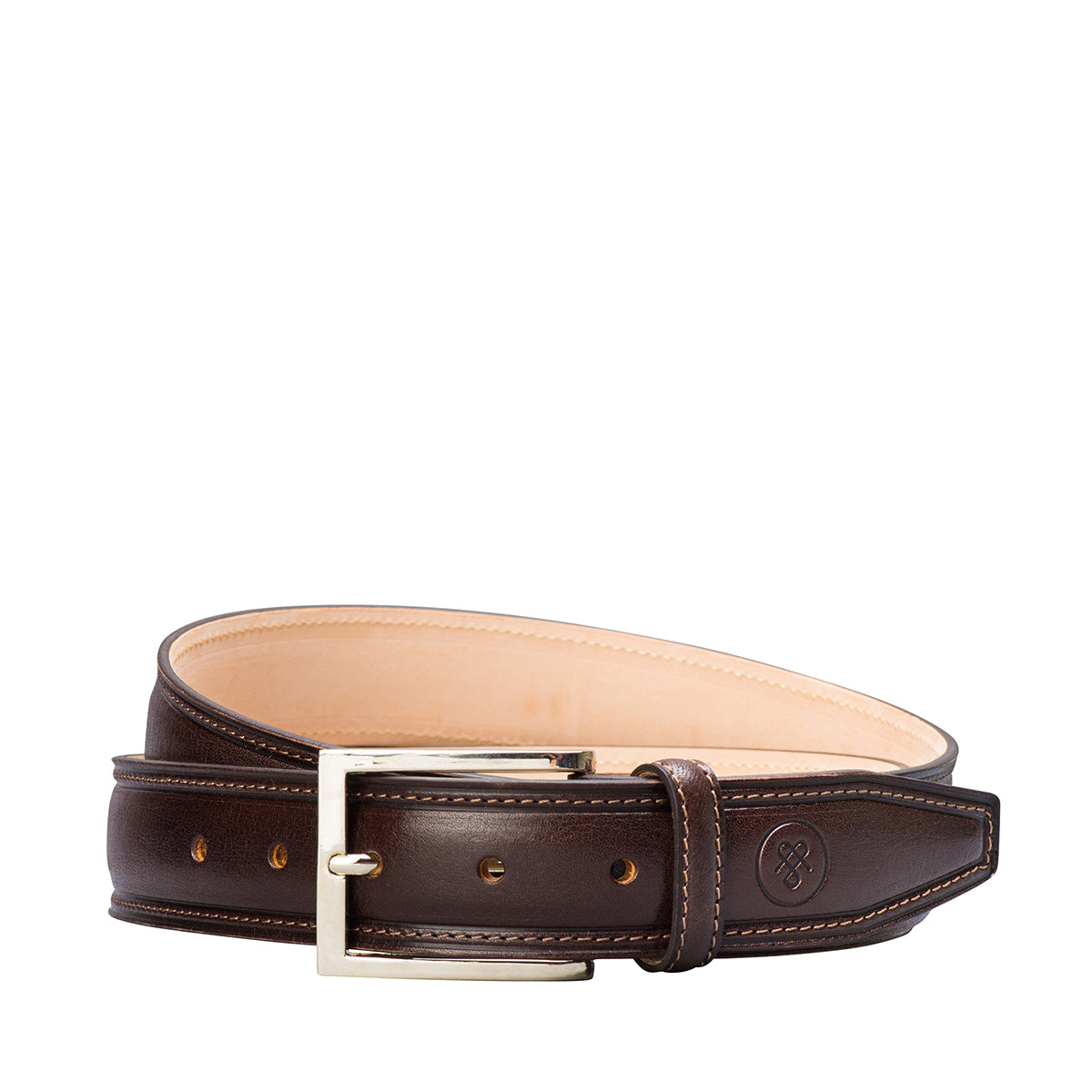 Image 1 of the 'Franco' Chocolate Veg-Tanned Leather Handmade Belt
