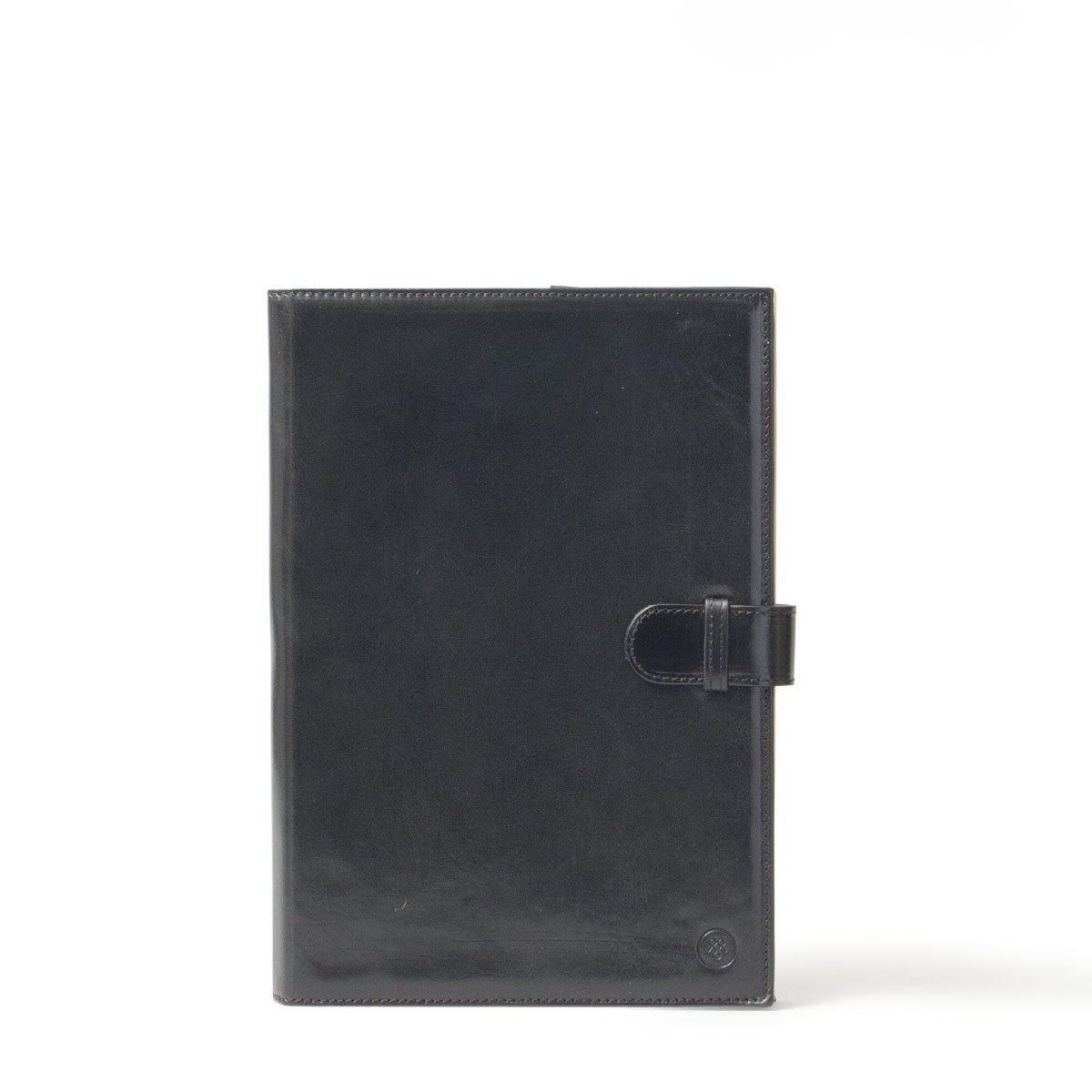 Image 1 of the 'Gallo' Black Veg-Tanned Leather Prestige Business Folder