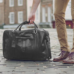 Image 8 of the 'Maurizio' Dark Chocolate Italian Veg-Tanned Leather Suitcase