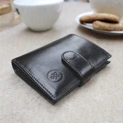 Image 8 of the 'Pietre' Black Veg-Tanned Leather Compact Wallet