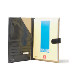 Image 5 of the 'Gallo' Black Veg-Tanned Leather Prestige Business Folder