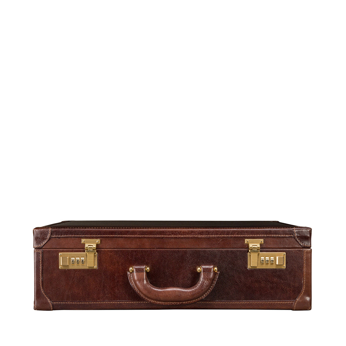 Image 4 of the 'Buroni' Dark Chocolate Veg-Tanned Leather Business Attaché  Case
