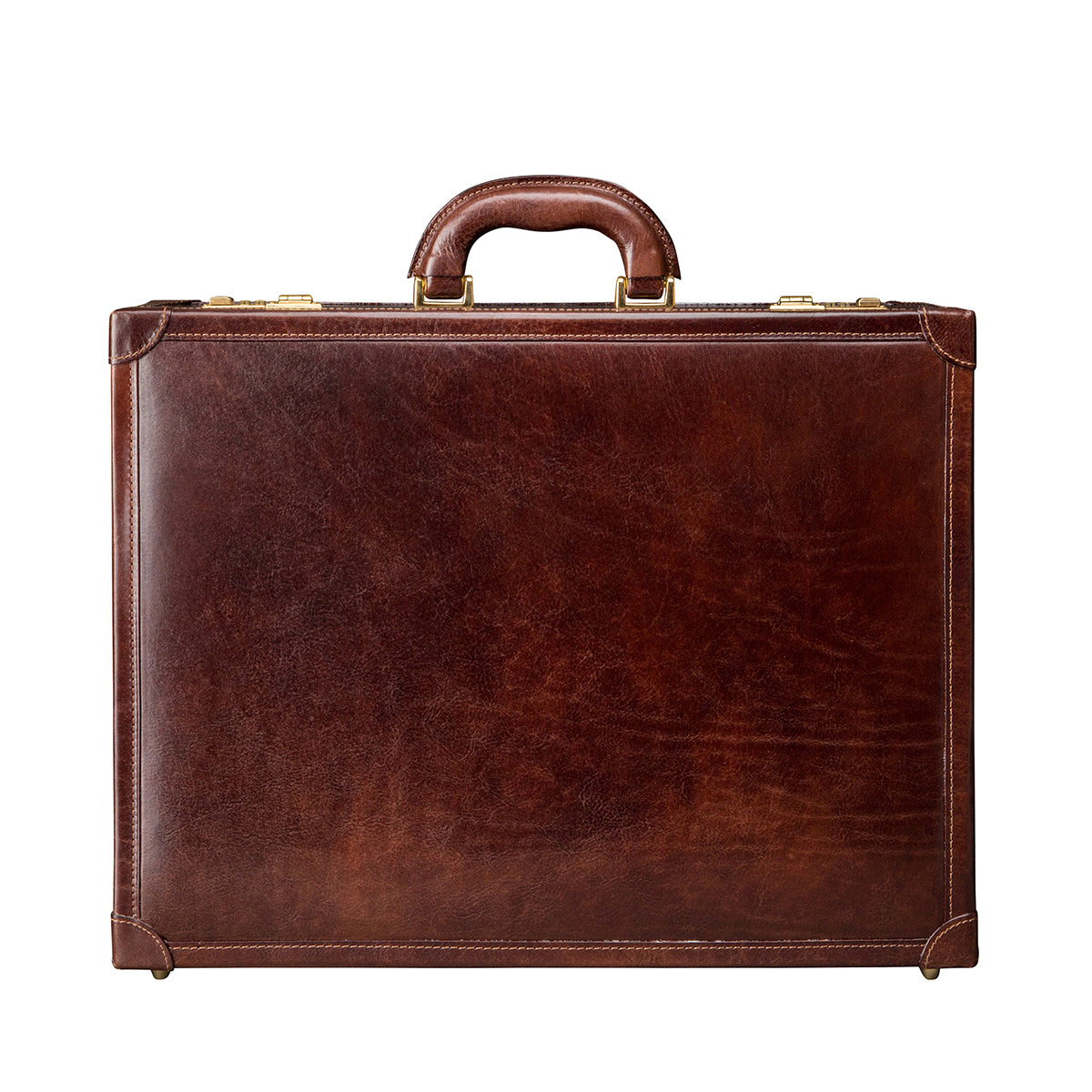 Image 1 of the 'Buroni' Dark Chocolate Veg-Tanned Leather Business Attaché  Case