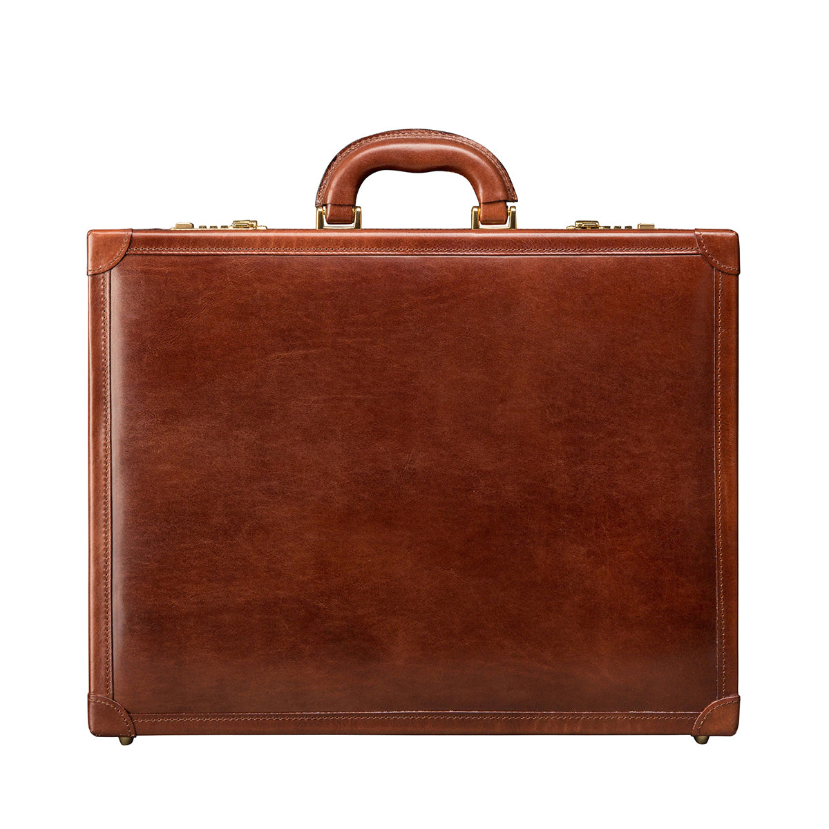 Image 1 of the 'Buroni' Chestnut Veg-Tanned Leather Business Attaché  Case