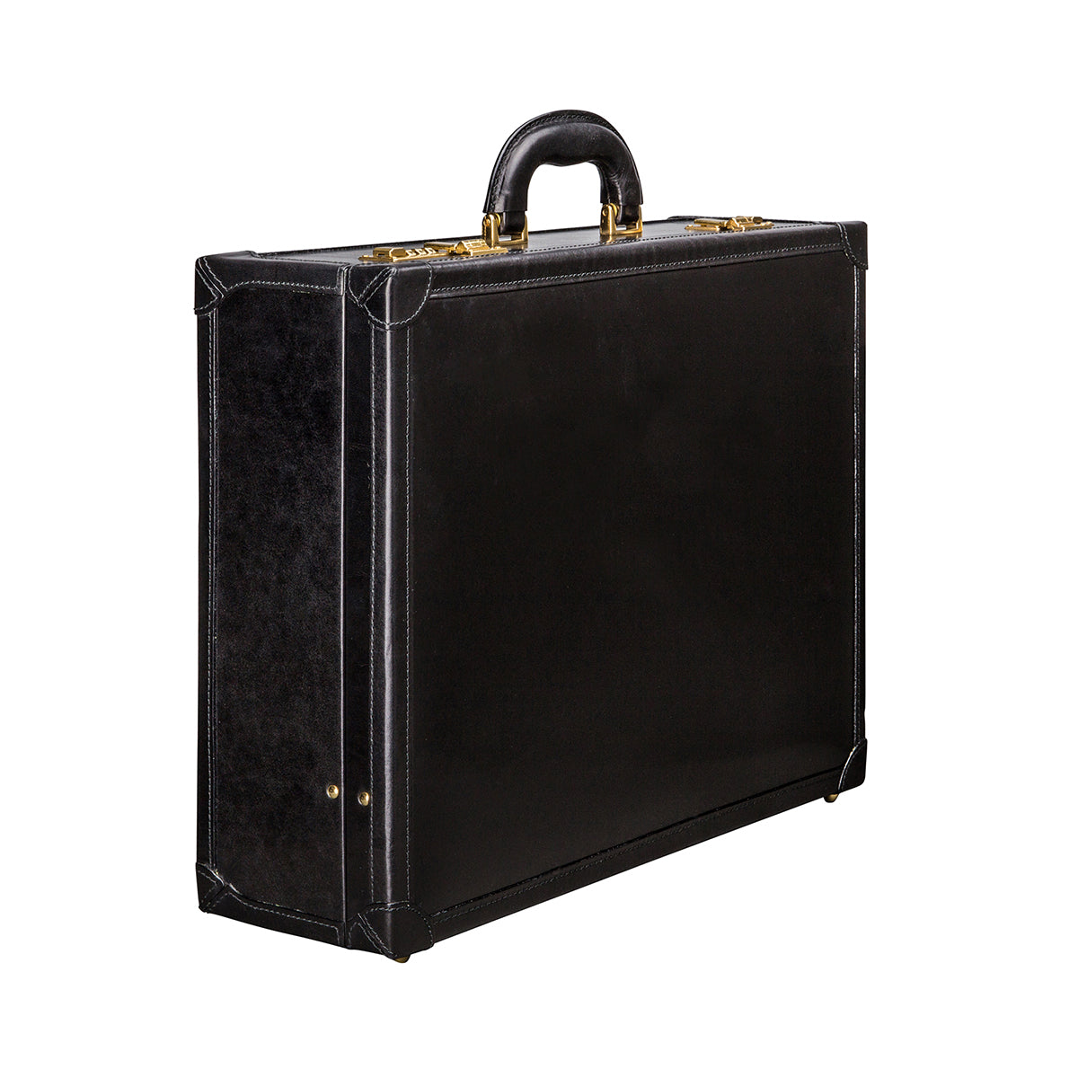 Image 2 of the 'Buroni' Black Veg-Tanned Leather Business Attaché  Case