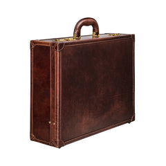 Image 2 of the 'Buroni' Dark Chocolate Veg-Tanned Leather Business Attaché  Case