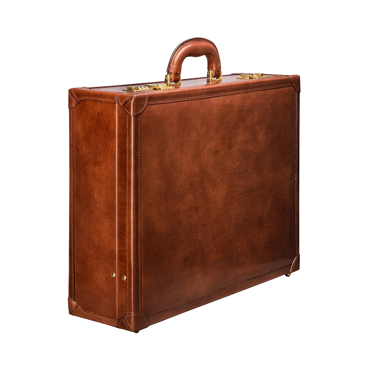 Image 2 of the 'Buroni' Chestnut Veg-Tanned Leather Business Attaché  Case