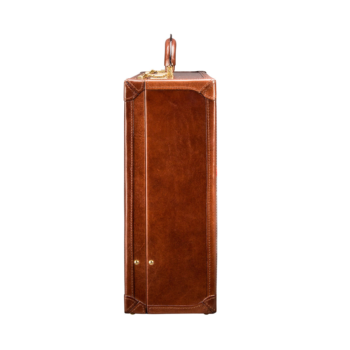 Image 3 of the 'Buroni' Chestnut Veg-Tanned Leather Business Attaché  Case