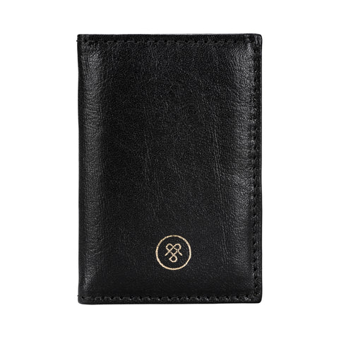 Image 1 of the 'Caldana' Black Mini Pocket Veg-Tanned Leather Address Book
