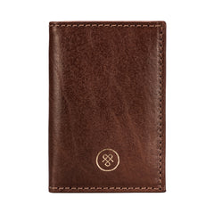 Image 1 of the 'Caldana' Dark Chestnut Mini Pocket Veg-Tanned Leather Address Book