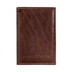 Image 2 of the 'Caldana' Dark Chestnut Mini Pocket Veg-Tanned Leather Address Book