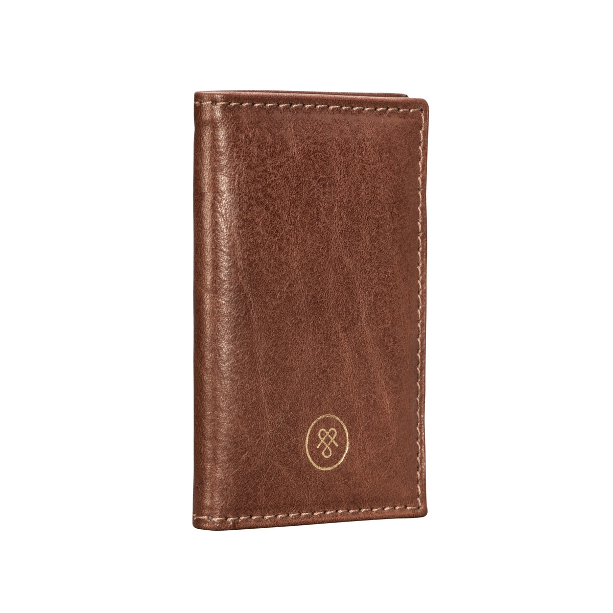 Image 3 of the 'Caldana' Dark Chestnut Mini Pocket Veg-Tanned Leather Address Book