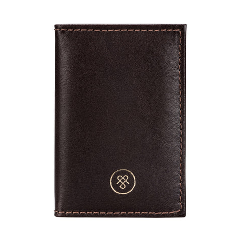 Image 1 of the 'Caldana' Dark Chocolate Mini Pocket Veg-Tanned Leather Address Book