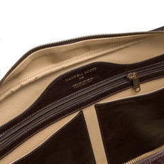 Image 6 of the 'Calvino' Dark Chocolate Veg-Tanned Leather Briefcase