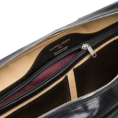 Image 6 of the 'Calvino' Black Veg-Tanned Leather Briefcase