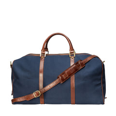 Image 4 of the Large 'Giovane' Rich Navy and Tan Holdall