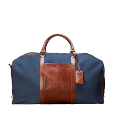 Image 1 of the Large 'Giovane' Rich Navy and Tan Holdall