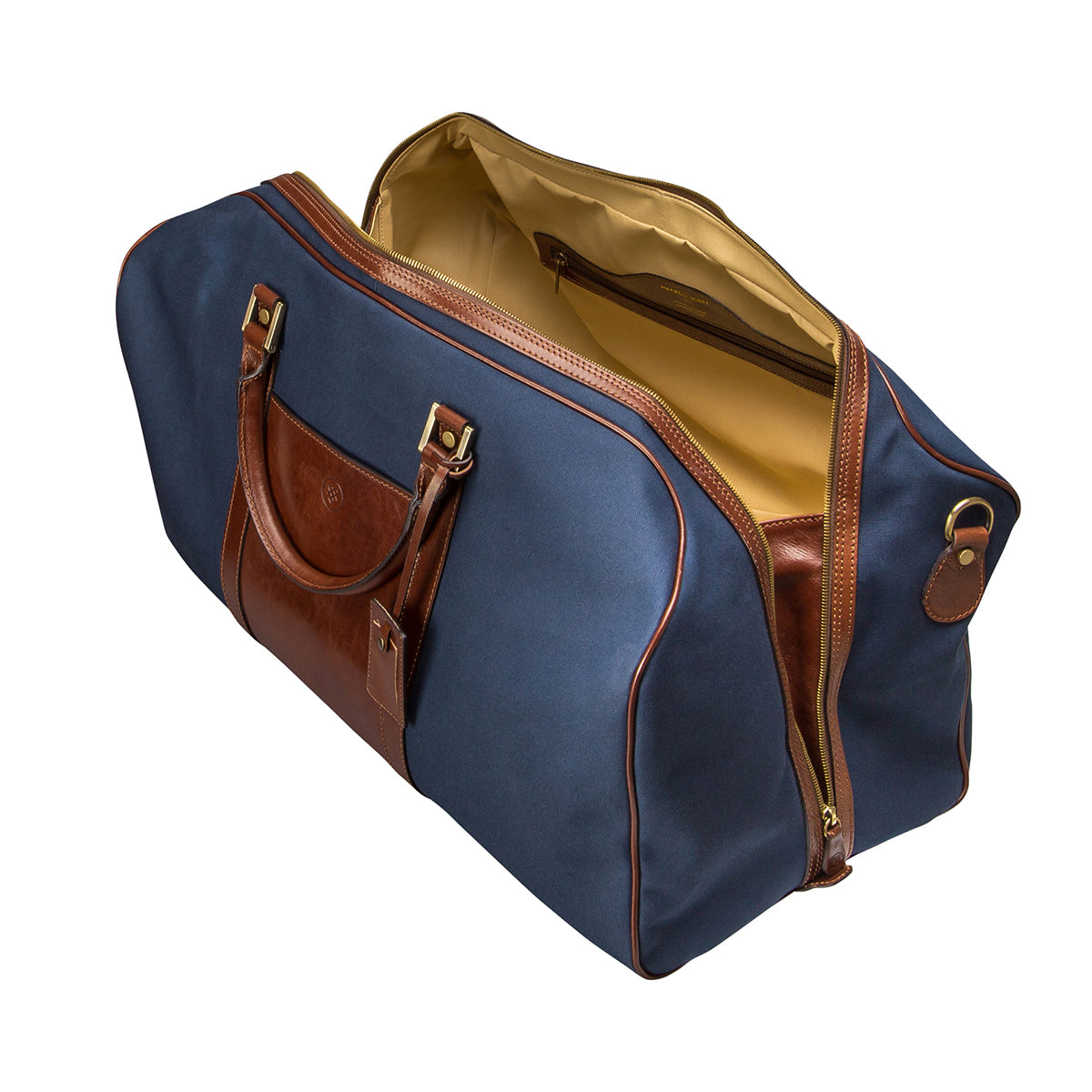Image 5 of the Large 'Giovane' Rich Navy and Tan Holdall