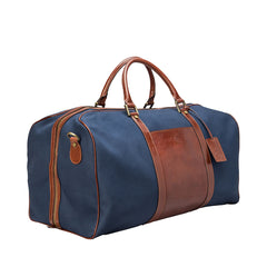 Image 2 of the Large 'Giovane' Rich Navy and Tan Holdall