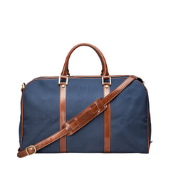 Image 4 of the 'Giovane' Rich Navy and Tan Holdall