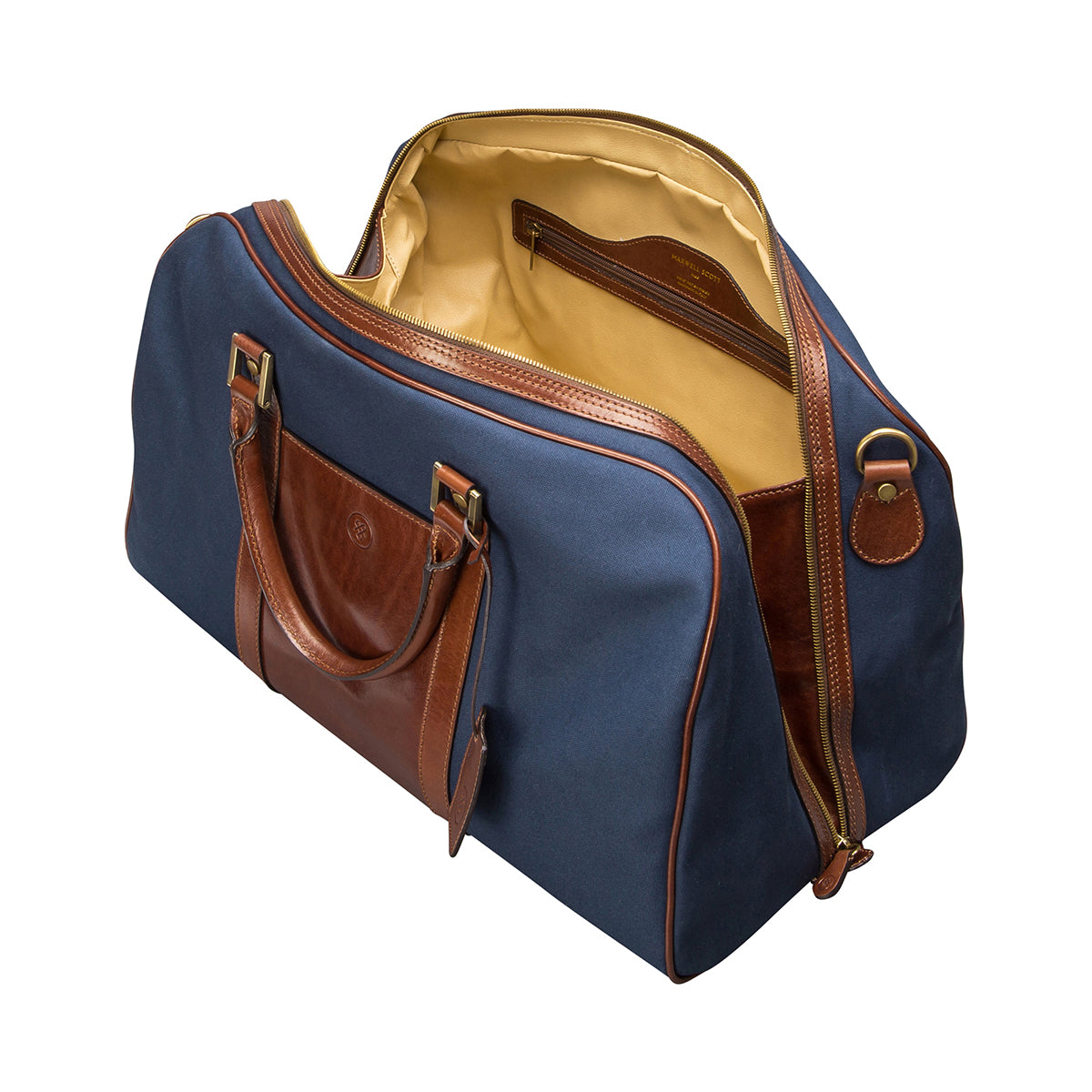 Image 5 of the 'Giovane' Rich Navy and Tan Holdall