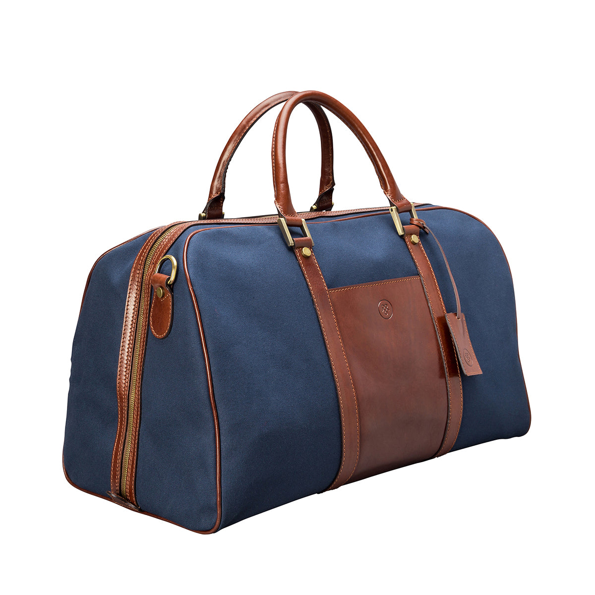 Image 2 of the 'Giovane' Rich Navy and Tan Holdall