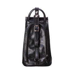 Image 4 of the 'Carli' Black Veg-Tanned Leather Backpack