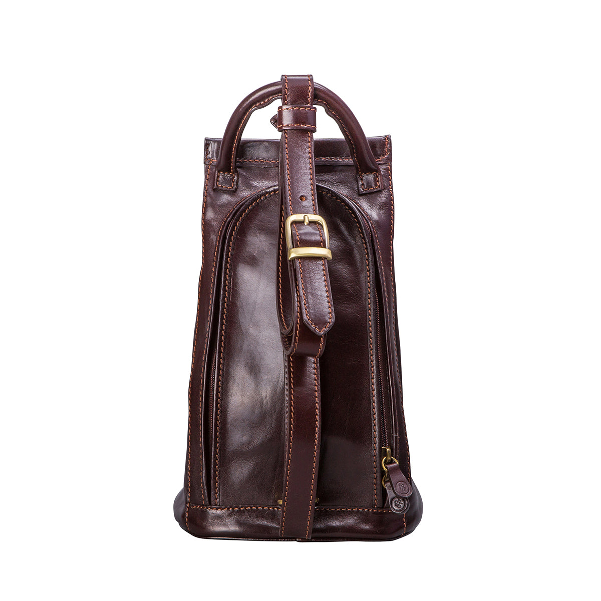 Image 4 of the 'Carli' Dark Chocolate Veg-Tanned Leather Backpack