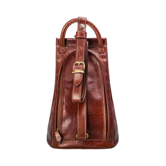 Image 4 of the 'Carli' Chestnut Tan Veg-Tanned Leather Backpack