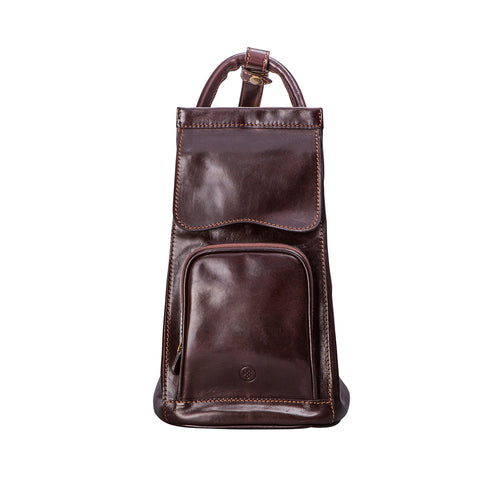 Image 1 of the 'Carli' Dark Chocolate Veg-Tanned Leather Backpack