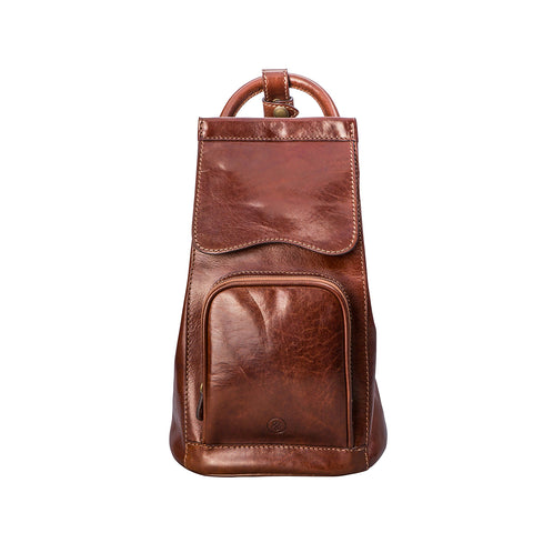 Image 1 of the 'Carli' Chestnut Tan Veg-Tanned Leather Backpack