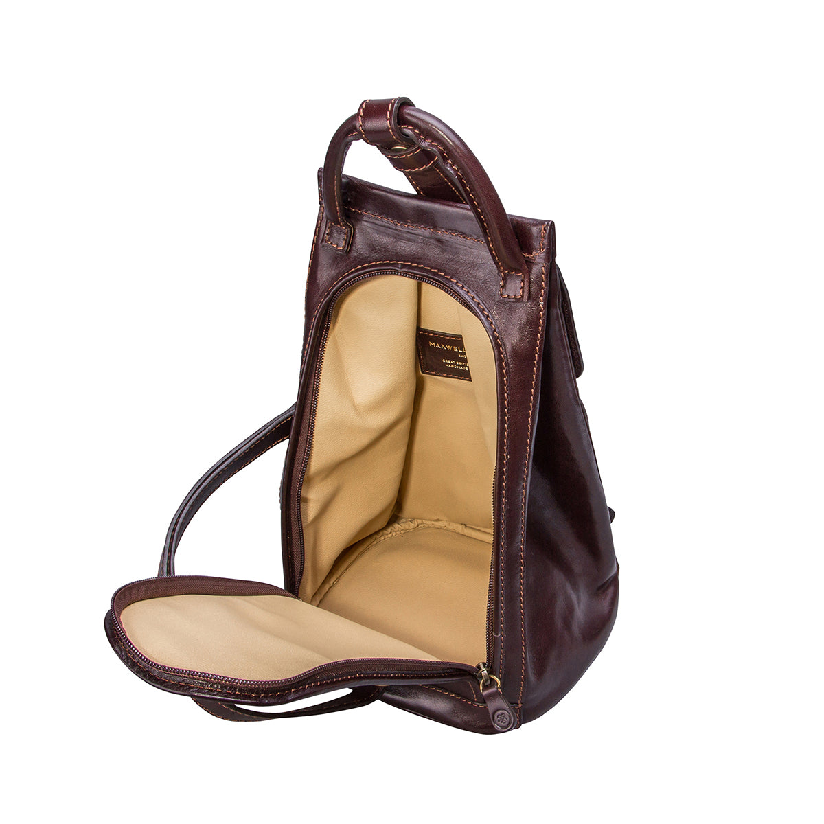Image 5 of the 'Carli' Dark Chocolate Veg-Tanned Leather Backpack