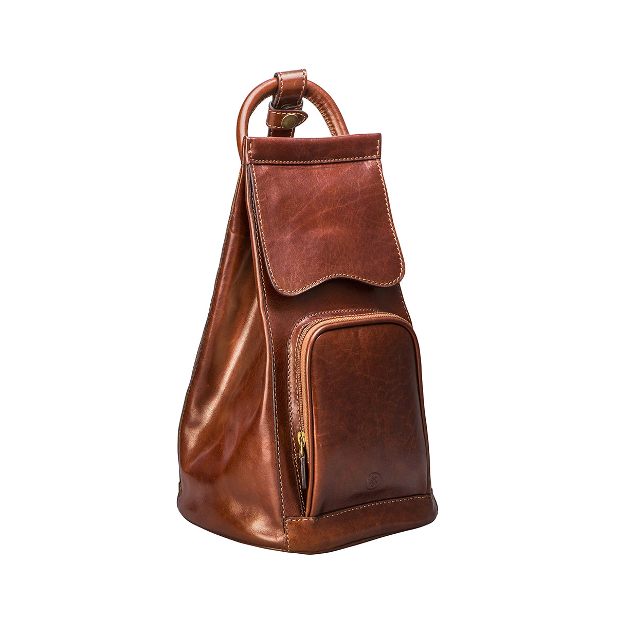 Image 2 of the 'Carli' Chestnut Tan Veg-Tanned Leather Backpack