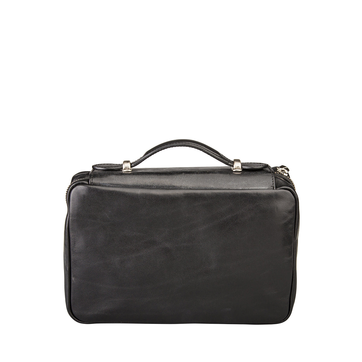 Image 4 of the 'Cascina' Black Veg-Tanned Leather Makeup Case