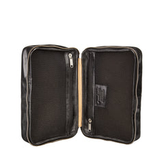 Image 6 of the 'Cascina' Black Veg-Tanned Leather Makeup Case
