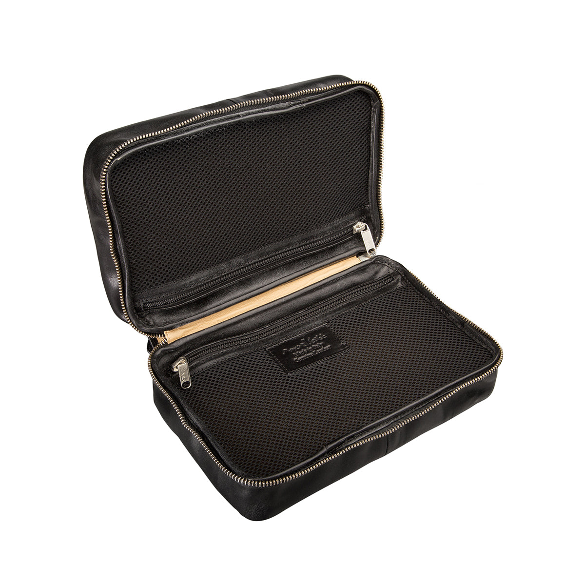 Image 5 of the 'Cascina' Black Veg-Tanned Leather Makeup Case