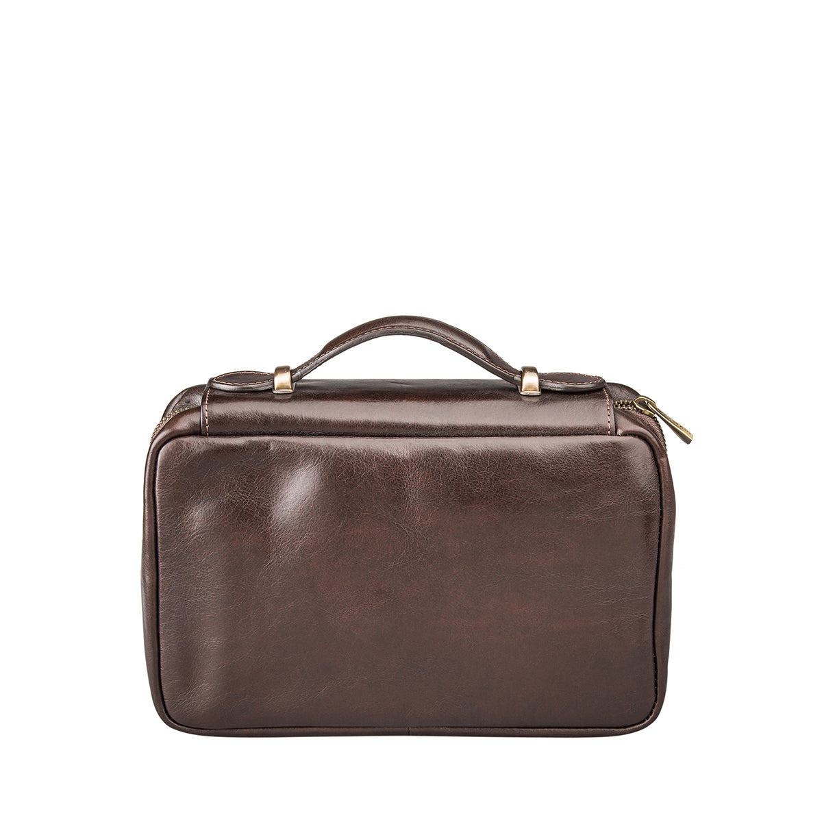 Image 4 of the 'Cascina' Chocolate Veg-Tanned Leather Makeup Case
