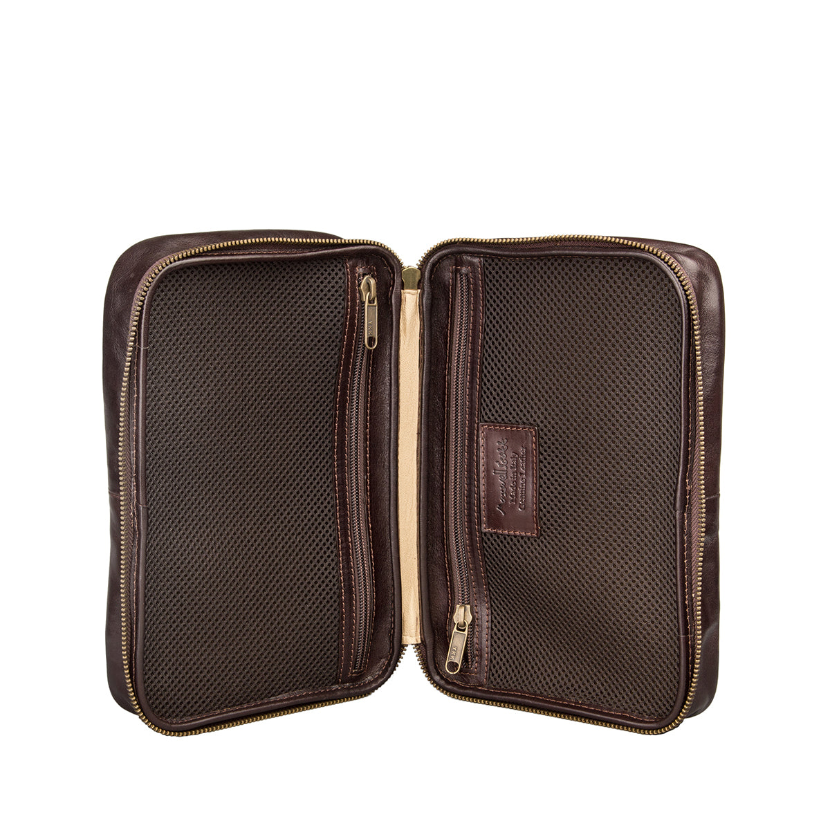 Image 6 of the 'Cascina' Chocolate Veg-Tanned Leather Makeup Case