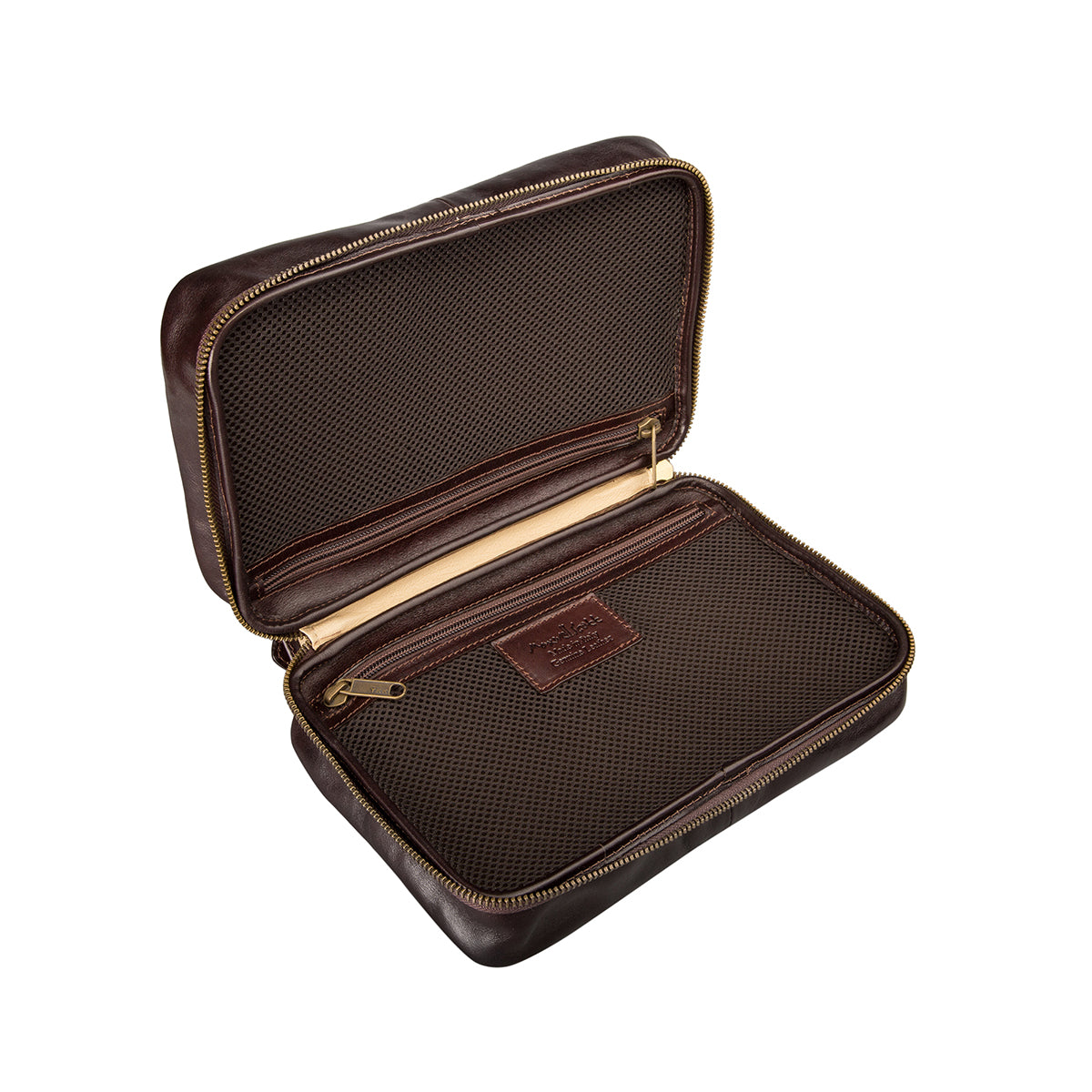 Image 5 of the 'Cascina' Chocolate Veg-Tanned Leather Makeup Case