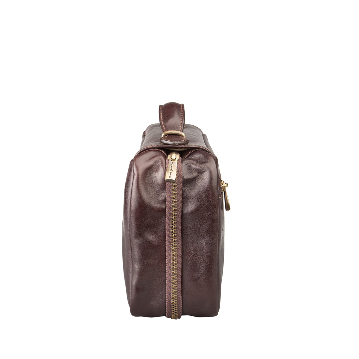 Image 3 of the 'Cascina' Chocolate Veg-Tanned Leather Makeup Case