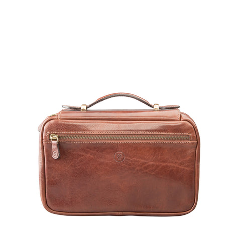 Image 1 of the 'Cascina' Chestnut Veg-Tanned Leather Makeup Case