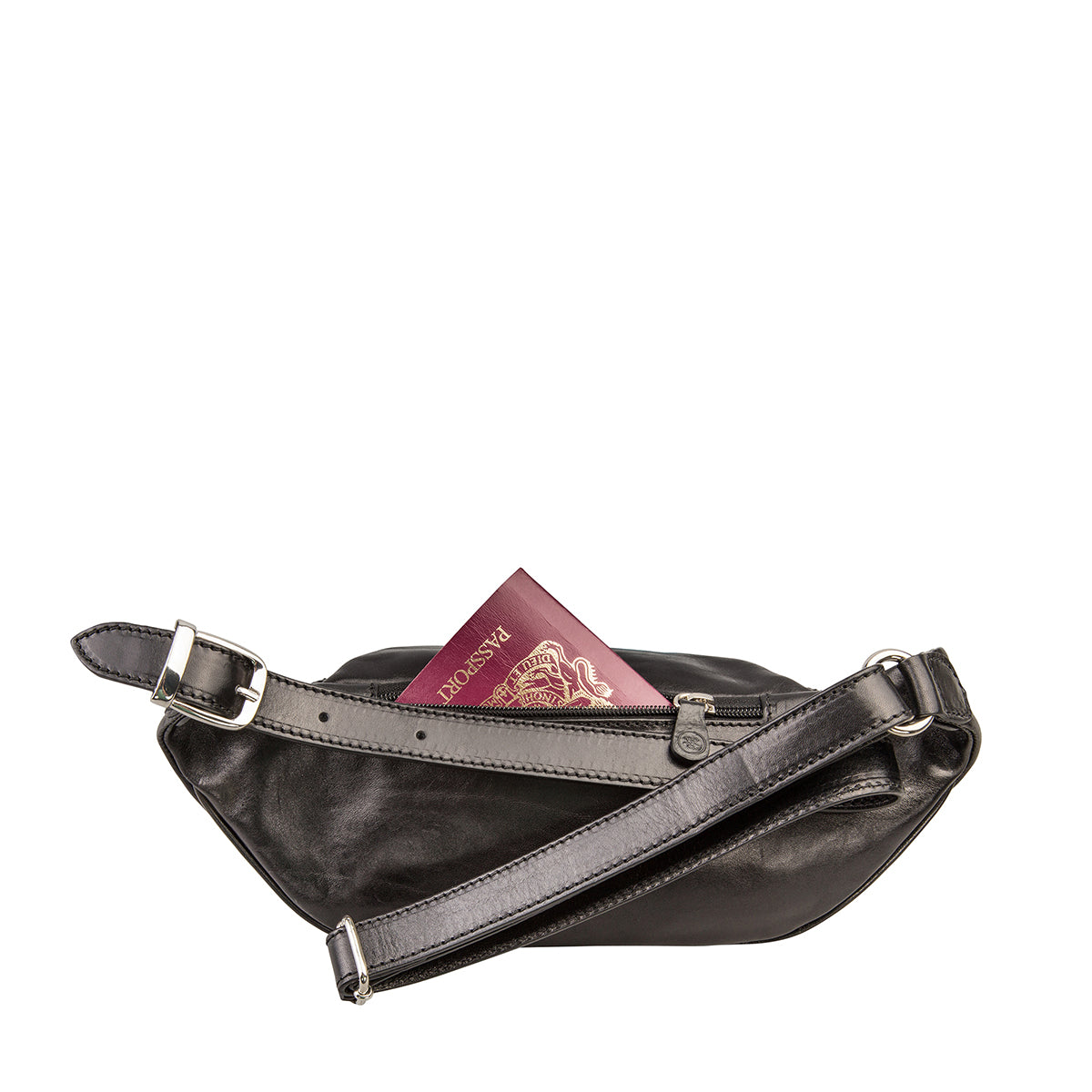Image 3 of the 'Centolla' Black Veg-Tanned Leather Waist Bag