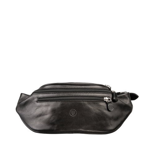 Image 1 of the 'Centolla' Black Veg-Tanned Leather Waist Bag