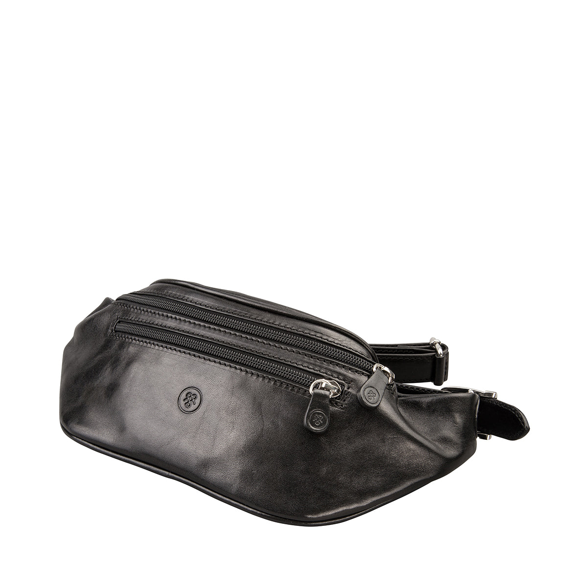 Image 2 of the 'Centolla' Black Veg-Tanned Leather Waist Bag